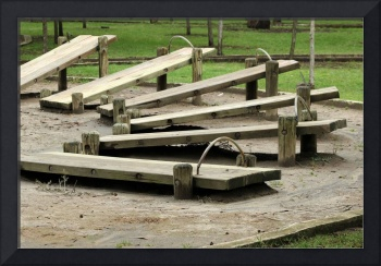 Wood Excercise Benches
