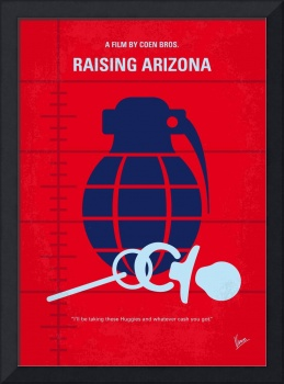 No477 My Raising Arizona minimal movie poster