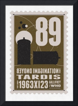 Starships 89 - BONUS - poststamp - DR WHO - TARDIS