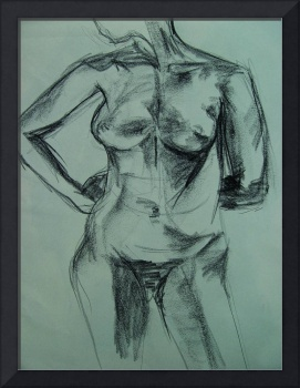 Charcoal Female Nude