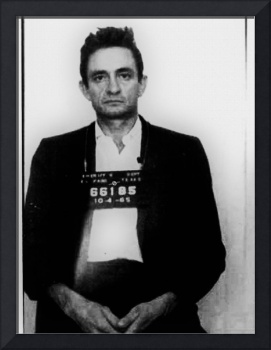 Johnny Cash Mug Shot Vertical