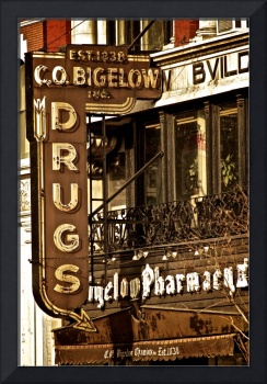 A Vintage Sign: CO Bigelow Pharmacy, New York City