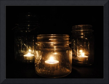 Mason Jars by Candlelight
