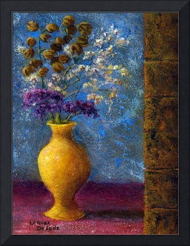 Still Life; Impressionist Dried Flowers, Vase