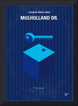 No323 My MULHOLLAND DRIVE minimal movie poster