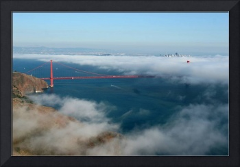 Aerial Golden Gate Bridge Marin Headlands
