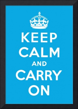 Blue Keep Calm And Carry On 5