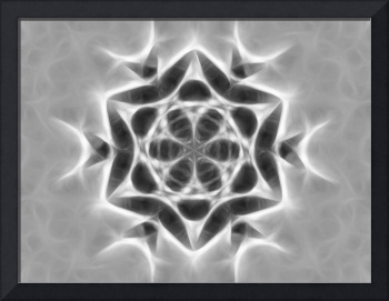 Gray Kaleidoscope Art 24