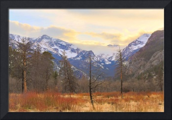 Rocky Mountain Wilderness Sunset View