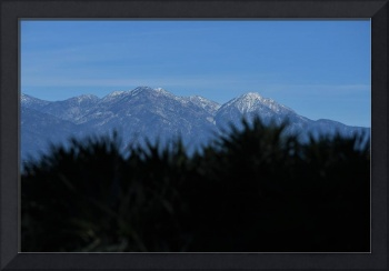 Snow Capped Mt Baldy and San Gabriel Mountains