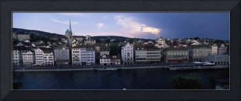Buildings at the waterfront Limmat River Zurich S