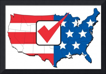 American election map of USA