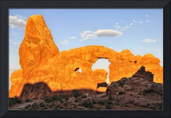Sunrise on Turret Arch, Arches National Park