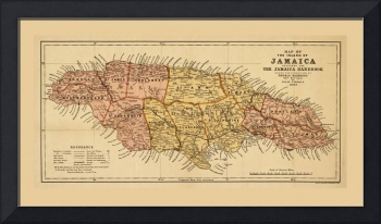 Map of the island of Jamaica (1893)