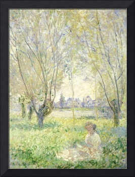 Woman Seated under the Willows by Claude Monet