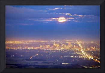 Cloudy Hazy Denver Colorado September Super Moon