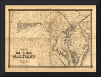 Map of the State of Maryland (1841)