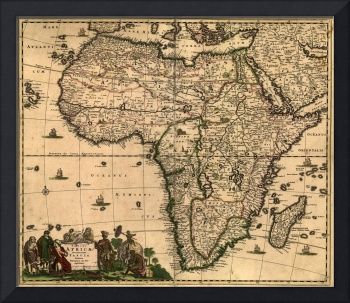 Vintage Map of Africa (1688)