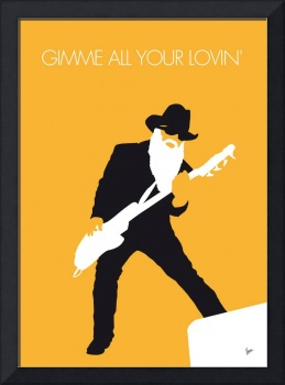 No044 MY ZZ TOP Minimal Music poster