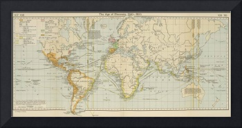 Vintage Map of The World (1911) 2