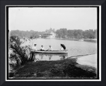 Boating at Garfield Park, Chicago, Ill. 1907