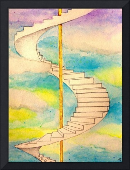 Fantasy Stairs Watercolor