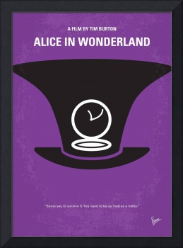 No140 My Alice in Wonderland minimal movie poster