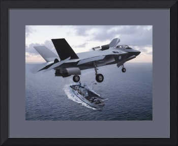 F 35 On Approach to Carrier Landing