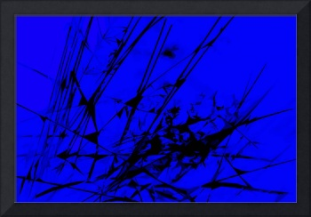 Strike Out Blue and Black Abstract