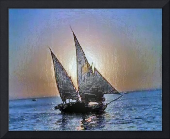 Sail Boat at Sunset