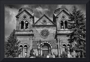 St. Francis Cathedral Basilica Study 5 BW