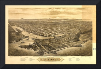 Bird's Eye View of Victoria, British Columbia, Can
