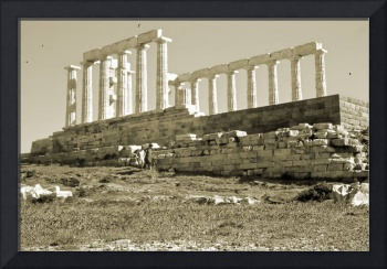 Remains, Temple of Poseidon, Sounion, Greece Gold
