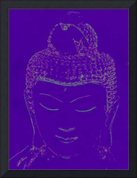 Purple Buddha head