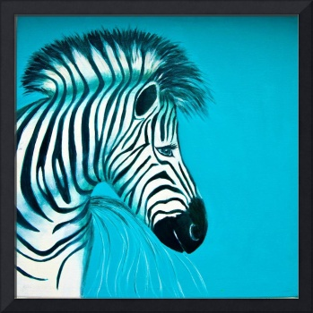 Zebra Blue Popart Pop Art Paintings