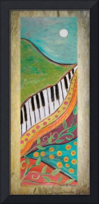 Rustica-Colorful Mountain Piano Panel-Karen Lee Tu