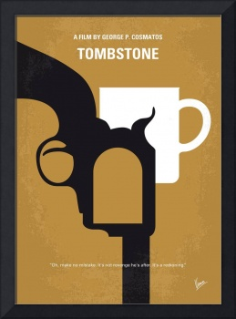 No596 My Tombstone minimal movie poster