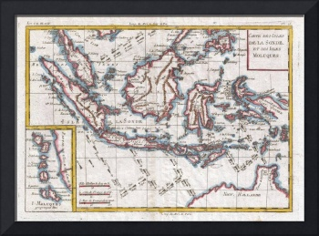 Stunning map of indonesia artwork for sale on framed prints gallery quality prints independent artists dcor to adore vintage map of indonesia 1780 gumiabroncs Gallery