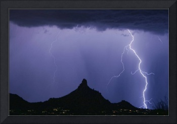 North Scottsdale Arizona Pinnacle Peak Monsoon