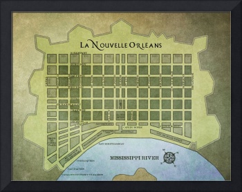 MAP OF NEW ORLEANS FRENCH QUARTER