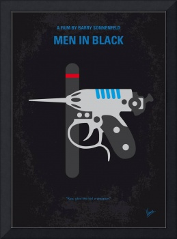 No586 My Men in Black minimal movie poster