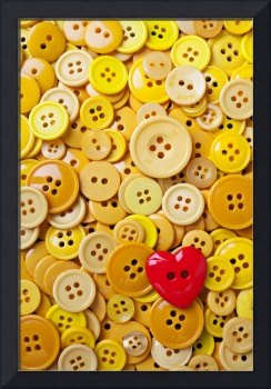 Red heart and yellow buttons