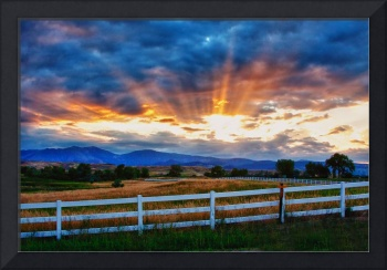 Rocky Mountain Country Beams Of Sunlight