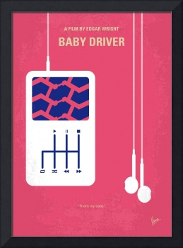 No872 My Baby Driver minimal movie poster