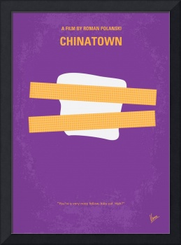 No015 My chinatown minimal movie poster