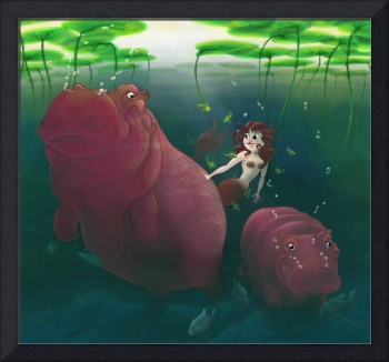 Hippos and Mermaid
