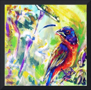 Painted Bunting Abstract
