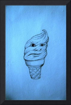 Face-Cream-Cone in blue
