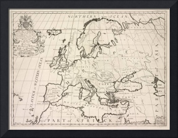 Vintage Map of Europe (1700)