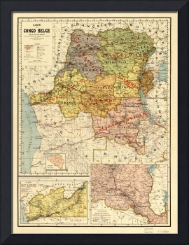 Map of the Congo, Africa (1896)